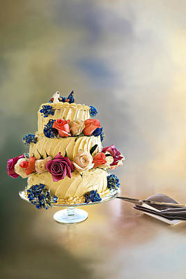 Photograph - Flower Cake by Maria Coulson