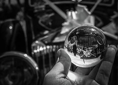 Photograph - Wedding Car - Sphere by Perggals - Stacey Turner