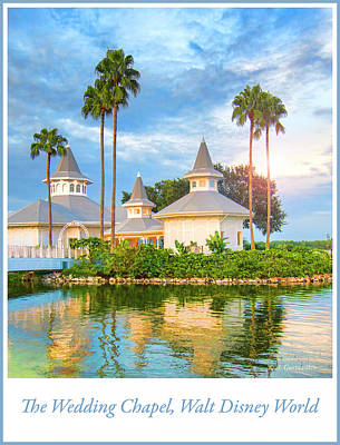 Photograph - Wedding Chapel, Pavilion, Walt Disney World by A Gurmankin