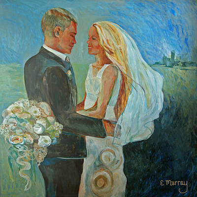 Bride And Groom Painting - Wedding Day by Beth Welsh