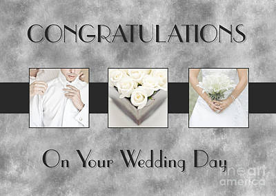 Digital Art - Wedding Day Triptych by JH Designs