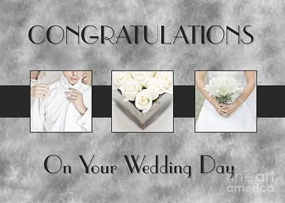 Digital Art - Wedding Day Triptych by JH Designs