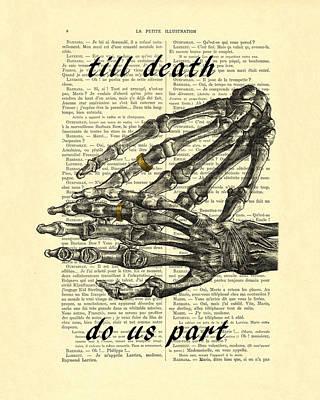 Wedding Gift, Till Death Do Us Part Art Print by Madame Memento