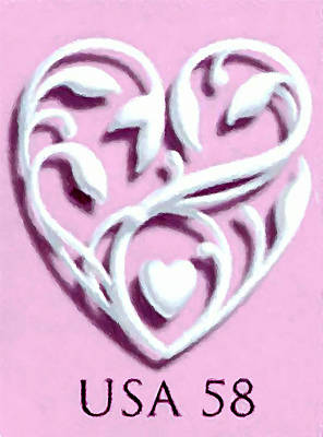 Beauty Mark Painting - Wedding Hearts by Lanjee Chee