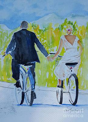 Painting - Wedding In Colorado by Jill Morris