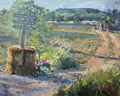 Dirt Roads Painting - Wedding In The Farm Grorgetown  by Ylli Haruni