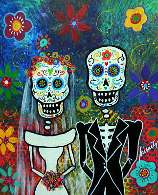 Wedding Muertos Art Print by Pristine Cartera Turkus