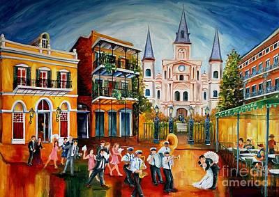 Wedding New Orleans' Style Art Print by Diane Millsap