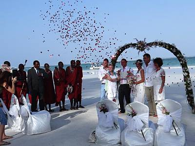 Exploramum Photograph - Wedding Party In Rose Petals by Exploramum Exploramum