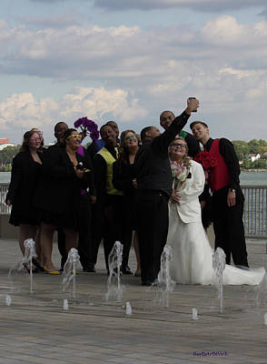 Photograph - Wedding Party Selfie Two by Roberta Byram
