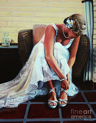 Bride And Groom Painting - Wedding by Paul Walsh