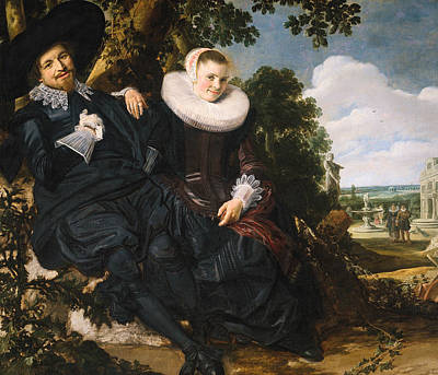 Painting - Wedding Portrait Of Isaac Abrahamsz Massa And Beatrix Van Der Laan by Frans Hals