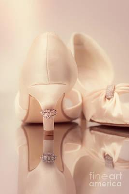 Wedding Sandals Art Print