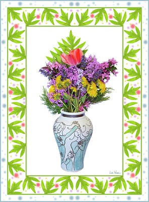 Digital Art - Wedding Vase With Bouquet by Lise Winne