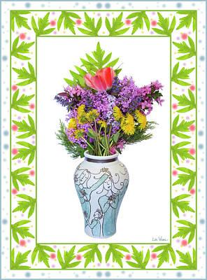 Digital Art - Wedding Vase With Bouquet by Lise Winne