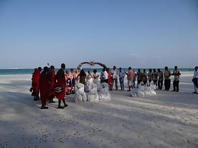 wedding with Maasai singers Art Print