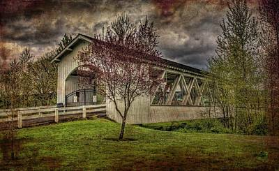 Photograph - Weddle Covered Bridge by Thom Zehrfeld