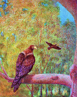 Wedgetail Eagles Art Print by Huth Anne