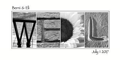 Photograph - Wedl Custom Alphabet Art by Kathy Stanczak