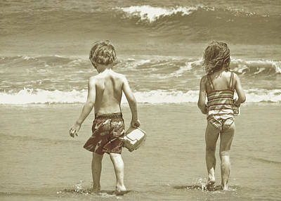 Wee Beachcombers Art Print by JAMART Photography