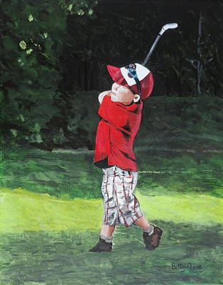 Painting - Wee Golfer by Betty-Anne McDonald