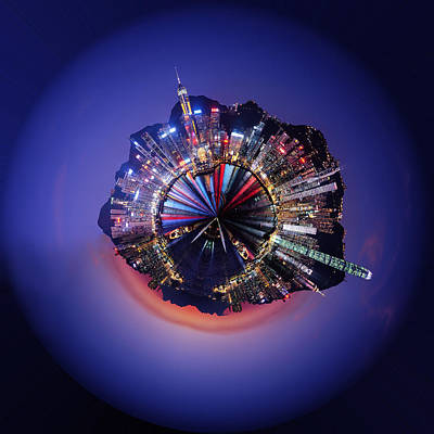 Reflected Digital Art - Wee Hong Kong Planet by Nikki Marie Smith