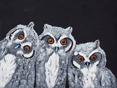 Painting - Wee Owls by Scott Wilmot