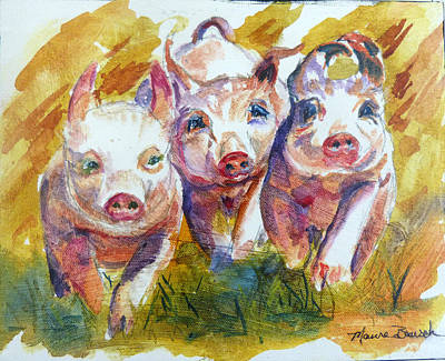 Piggies Painting - Wee Wee All The Way Home by P Maure Bausch