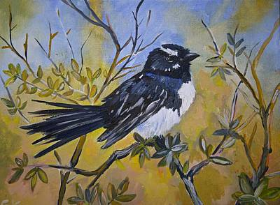 Wag Painting - Wee Willy  by Cynthia Farr