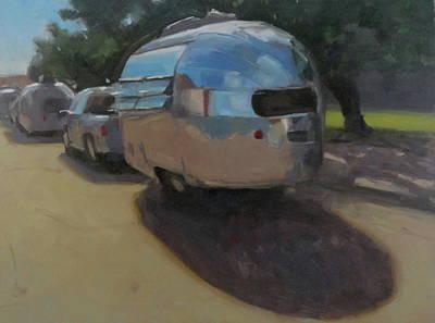Airstream Trailer Painting - Wee Wind by Elizabeth Jose