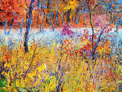 Painting - Weeds At Fall by Judith Barath