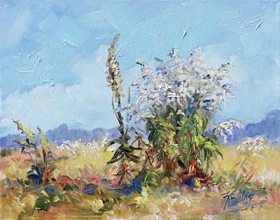 Meadow Painting - Weeds In Bloom by Irek Szelag