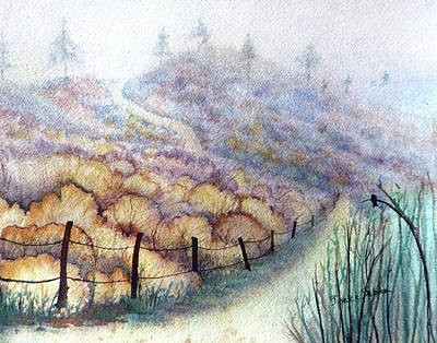 Weeds On A Hill, Carbon Canyon Art Print by Janice Sobien