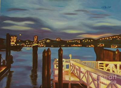 Painting - Weehawken From Pier 78 by Milagros Palmieri