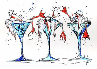 Bartender Painting - Weekend At Birdies by Reba Mcconnell