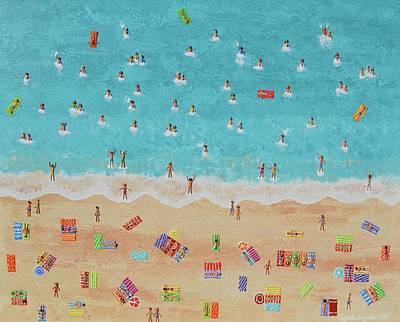 Painting - Weekend At The Beach by Elizabeth Langreiter