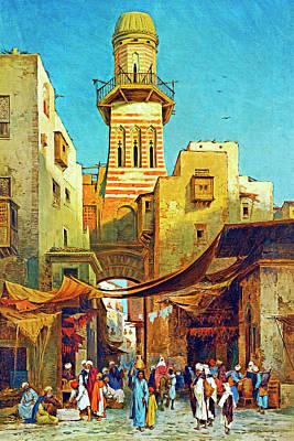 Painting - Weekend Bazaar by Munir Alawi