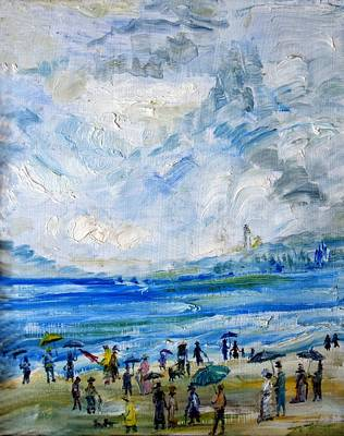 Painting - Weekend By The Bay by Lord Toph