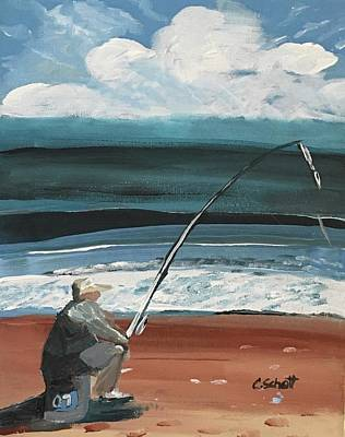 Painting - Weekend Fisherman by Christina Schott