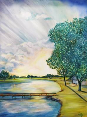 Sun Rays Painting - Weekend Getaway by Debi Starr