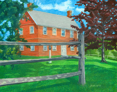 Drawing - Weeks Brick House by Dominic White