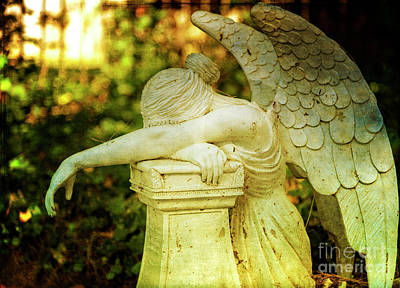 Photograph - Weeping Angel by Debra Fedchin