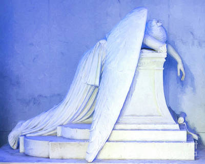 Photograph - Weeping Angel- Digital Art by Kathleen K Parker