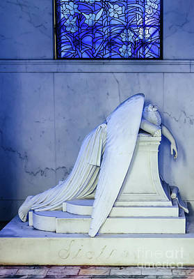 Photograph - Weeping Angel- Metairie Cemetery - Nola by Kathleen K Parker