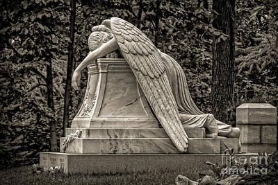 Weeping Angel - Sepia Art Print