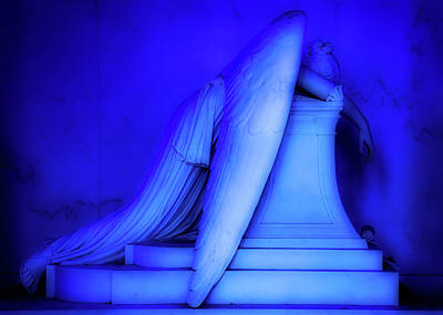 Photograph - Weeping Angel Statue Orton by Jerry Fornarotto