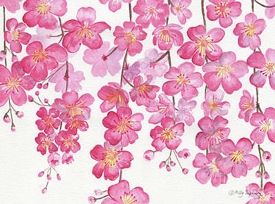 Painting - Weeping Cherry Blossom by Melly Terpening
