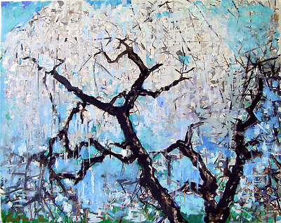 Painting - Weeping Cherry Tree by Zolita Sverdlove