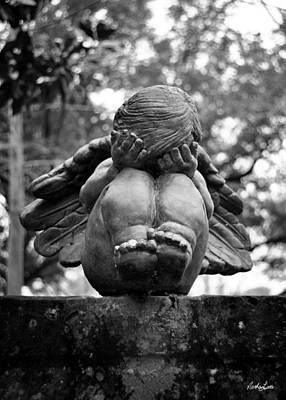 Photograph - Weeping Child Angel by Nathan Little