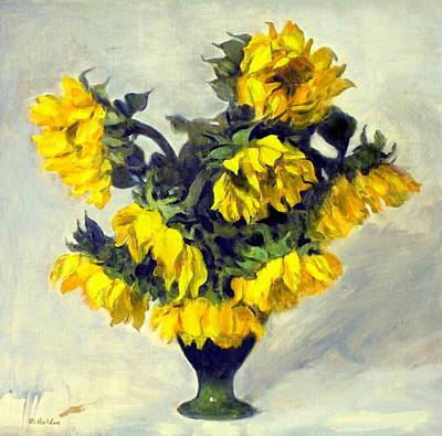 Painting - Weeping Sunflowers by Robert Holden